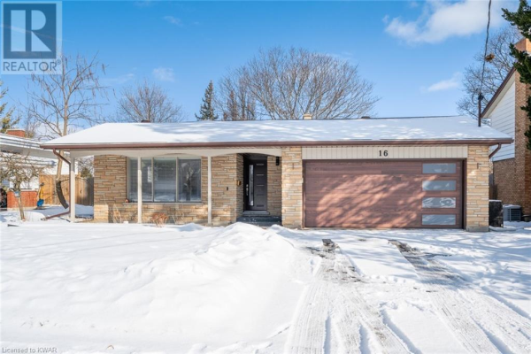 16 MONTEREY Road, Kitchener