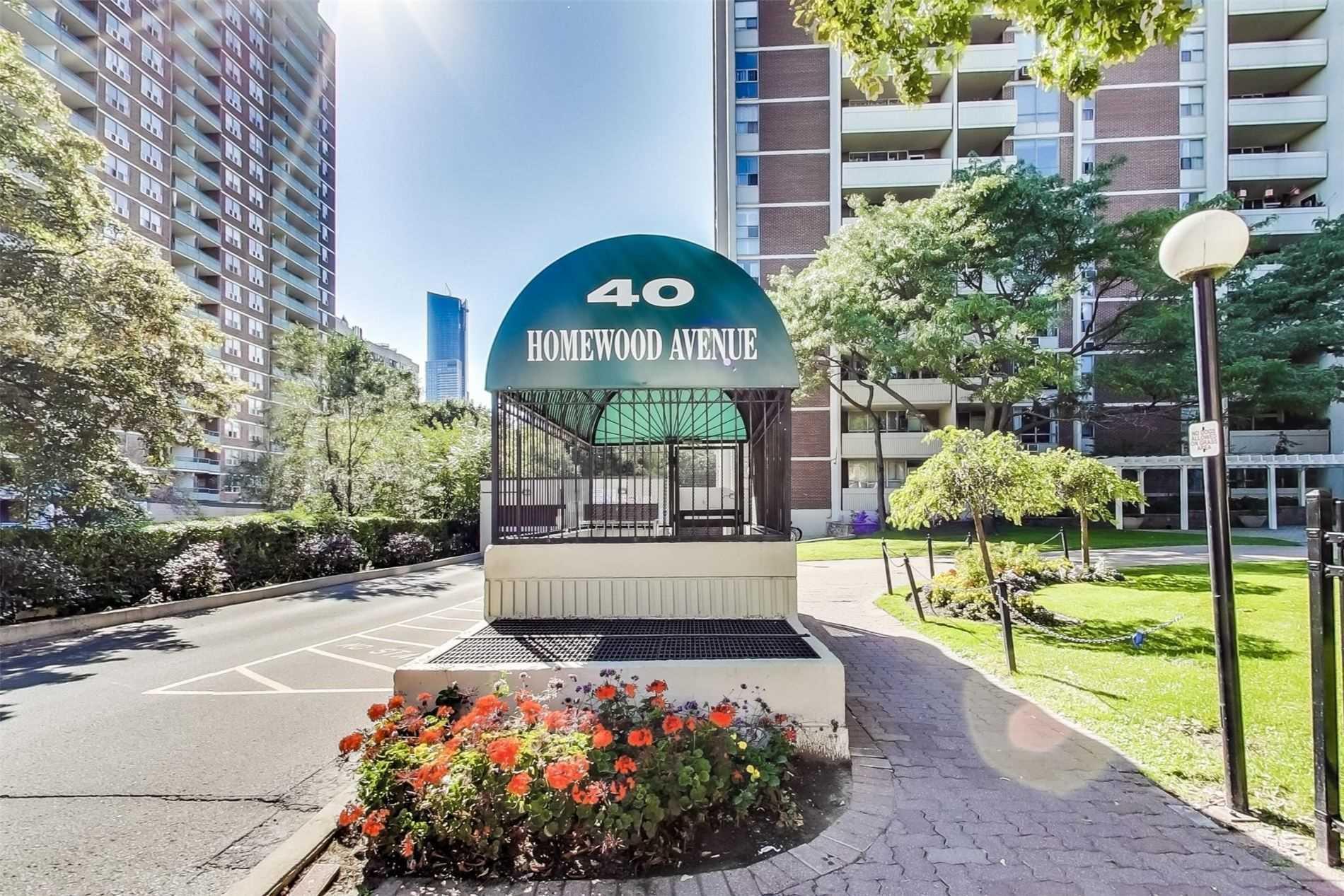 #2001 - 40 Homewood Ave, Toronto